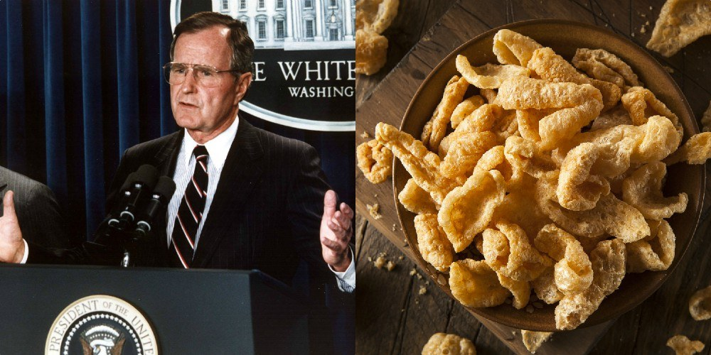 George HW Bush Pork rinds