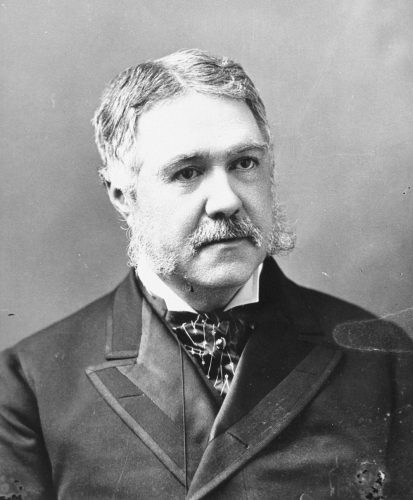 Chester Arthur in a black and white portrait.