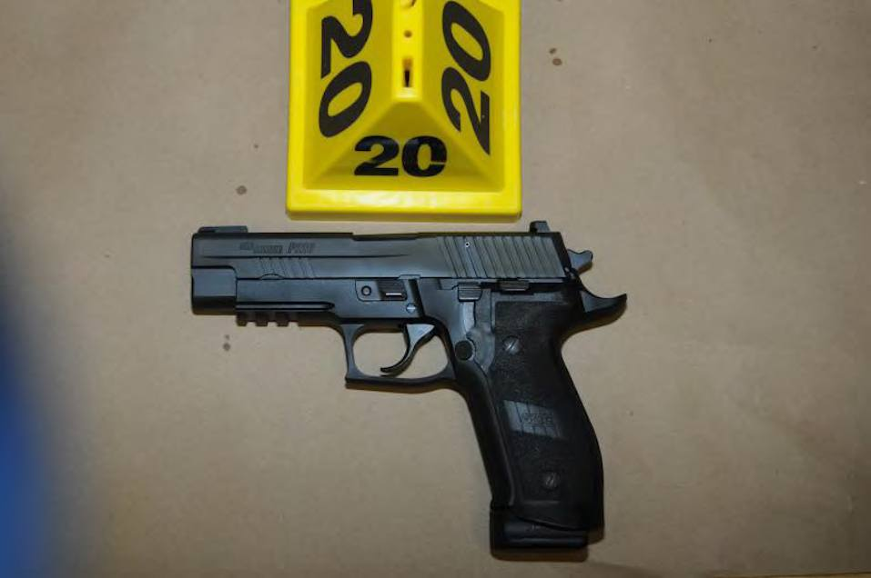 Sig Sauer P226 9mm found on shooters person in Room 10 at Sandy Hook Elementary School
