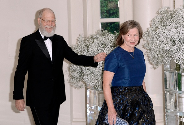 David Letterman and Regina Lasko