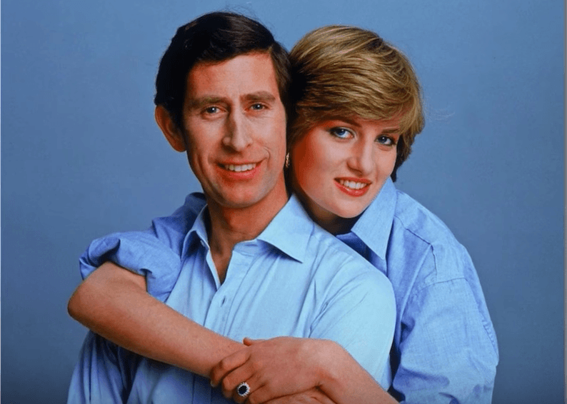 Princess Diana and Prince Charles engagement photo