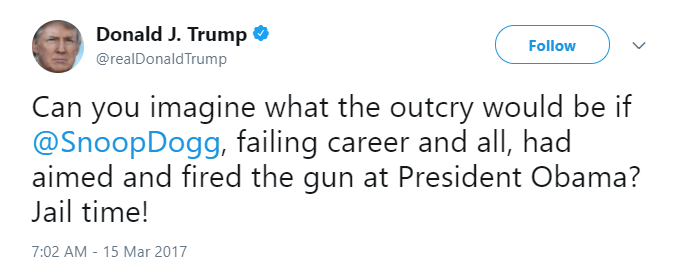 Donald Trump Tweets about SnoopDogg