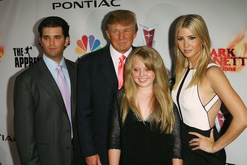 Donald Trump Jr., Donald Trump, Tiffany Trump and Ivanka Trump in 2006