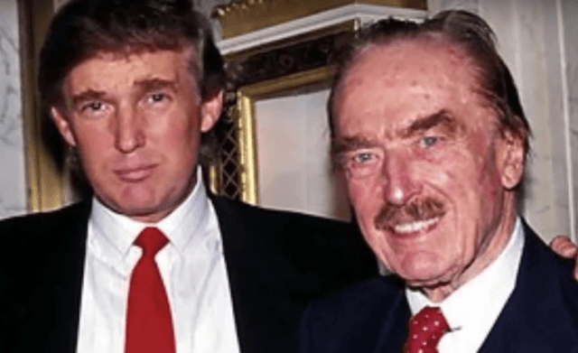 Fred Trump posing with Donald.