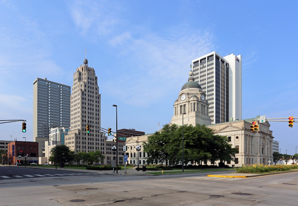 The downtown district in Fort Wayne