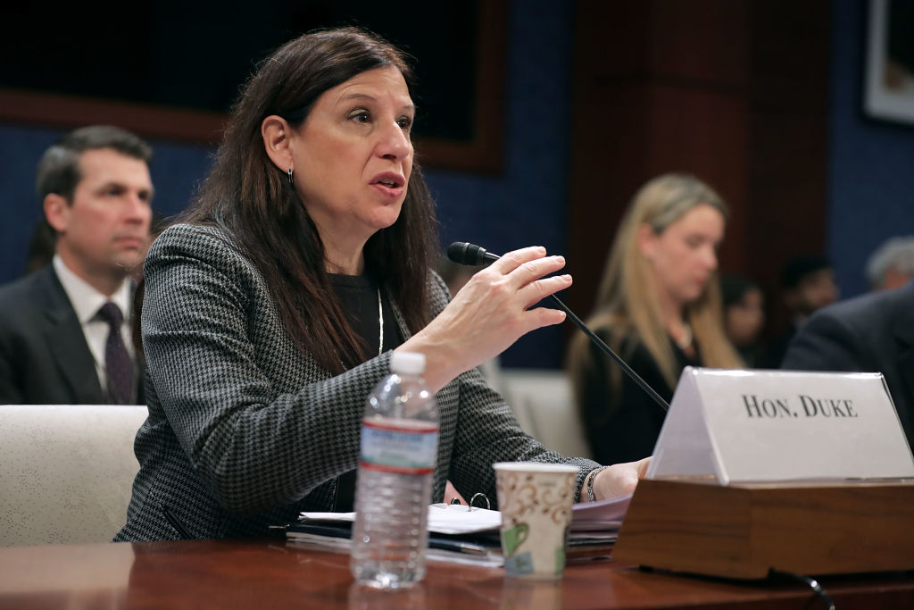 Acting Homeland Security Chief Elaine Duke Testifies At House Hearing On Terror Threats