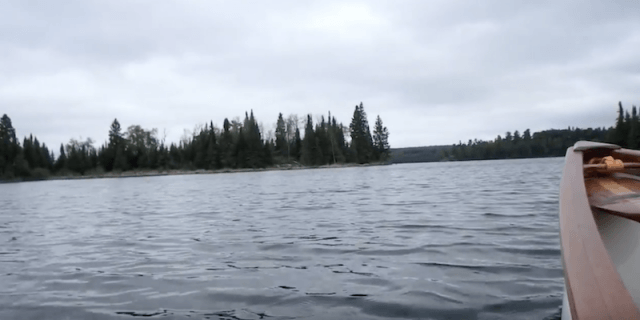 The lake seen from the inside of a boat.