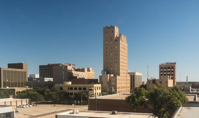Buildings and architecture downtown city skyline Lubbock, Texas