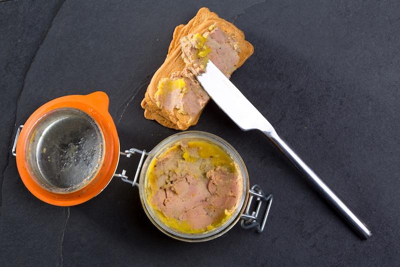 Foie gras Pate made of the liver of a duck