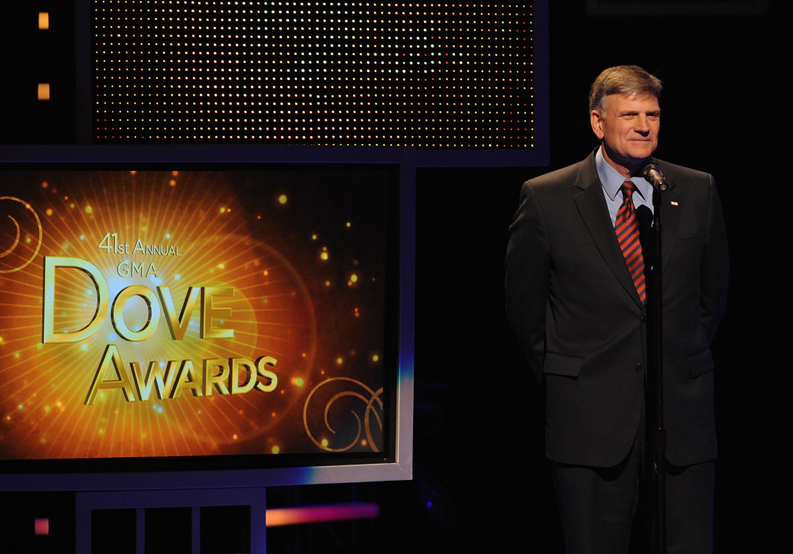 Franklin Graham speaks at Dove Awards