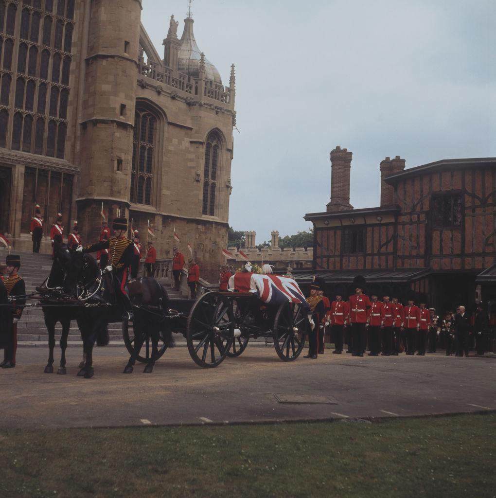 The funeral of Field Marshal Harold Alexander