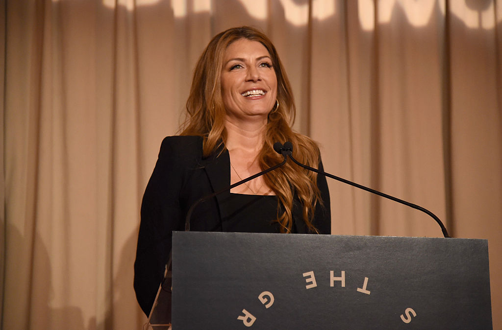 Host Genevieve Gorder speaks onstage during an event.