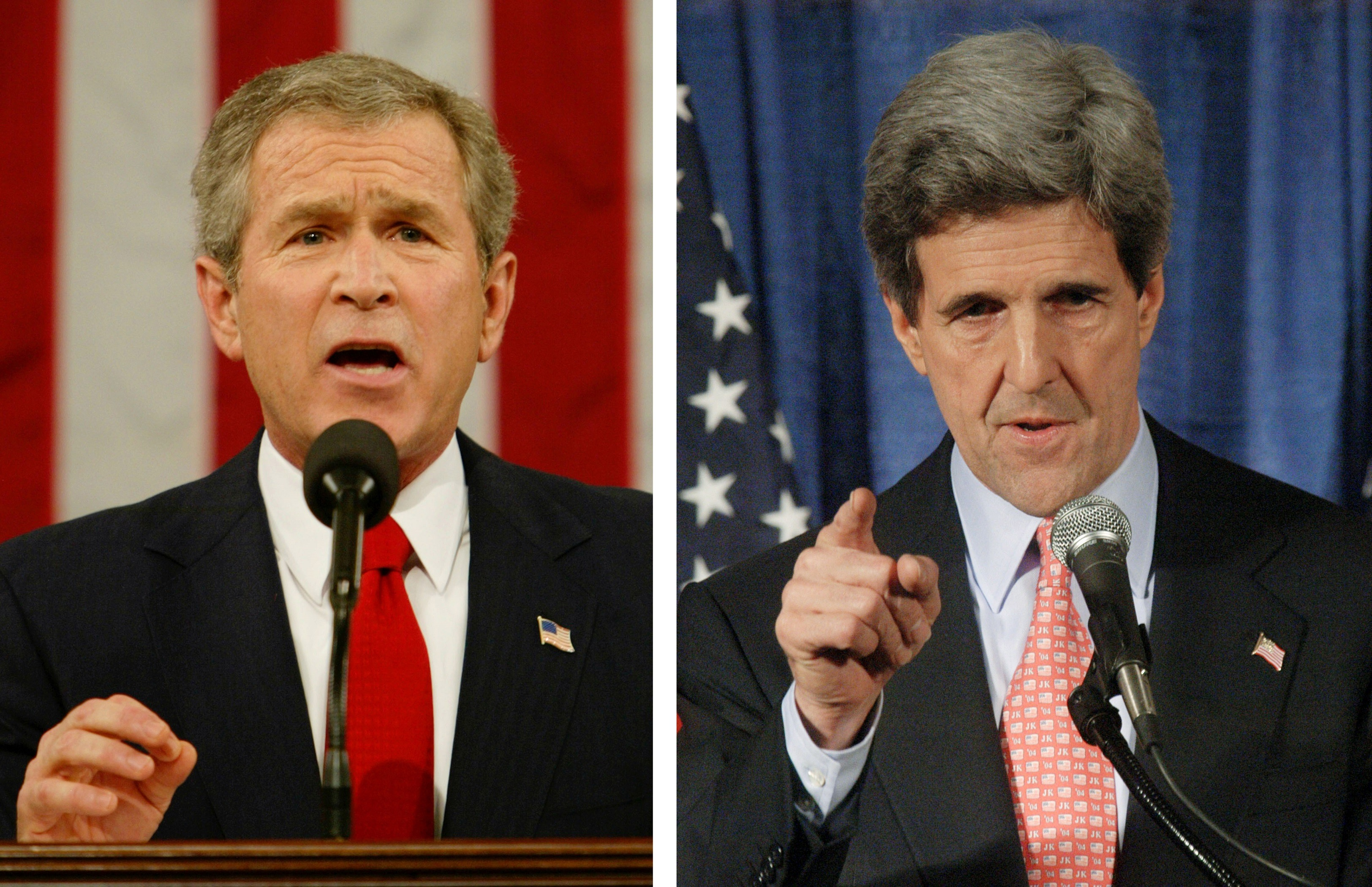George W Bush v John Kerry