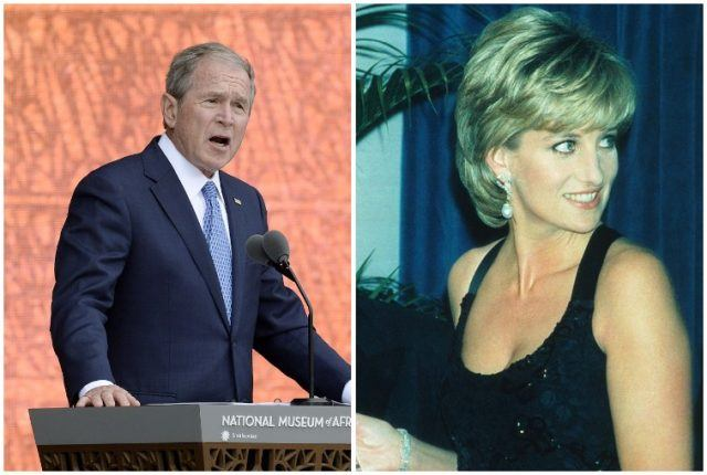 George W. Bush and Princess Diana.