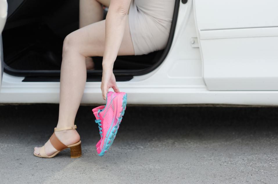 Female feet after work