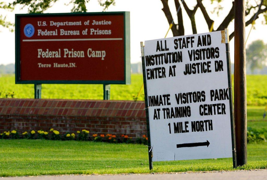 The U.S. Federal Prison in Terre Haute, Indiana.