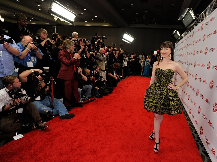 Adult film actress Dana DeArmond arrives at the 29th annual Adult Video News Awards Show at the Hard Rock Hotel & Casino January 21, 2012 in Las Vegas, Nevada.