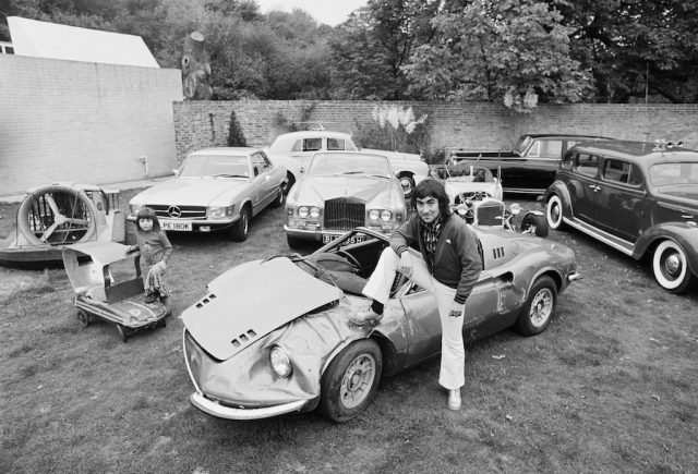 Keith Moon with his cars.