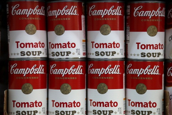 row of campbell's soup cans