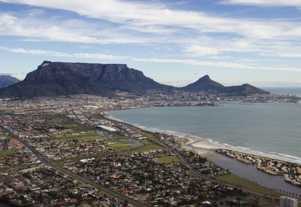 table mountain overlooking cape town, south africa