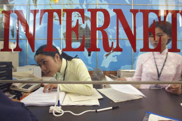 workers at an internet service provider in hanoi
