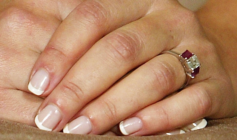 closeup of Princess Mary's ring