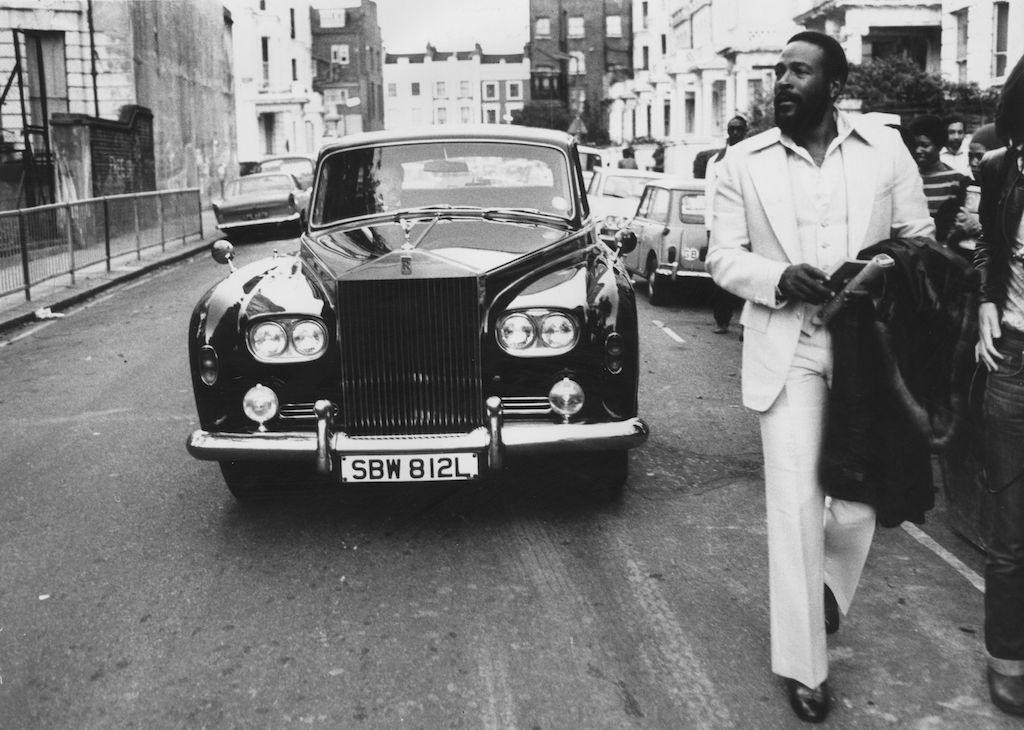 Marvin Gaye with Rolls-Royce, 1976