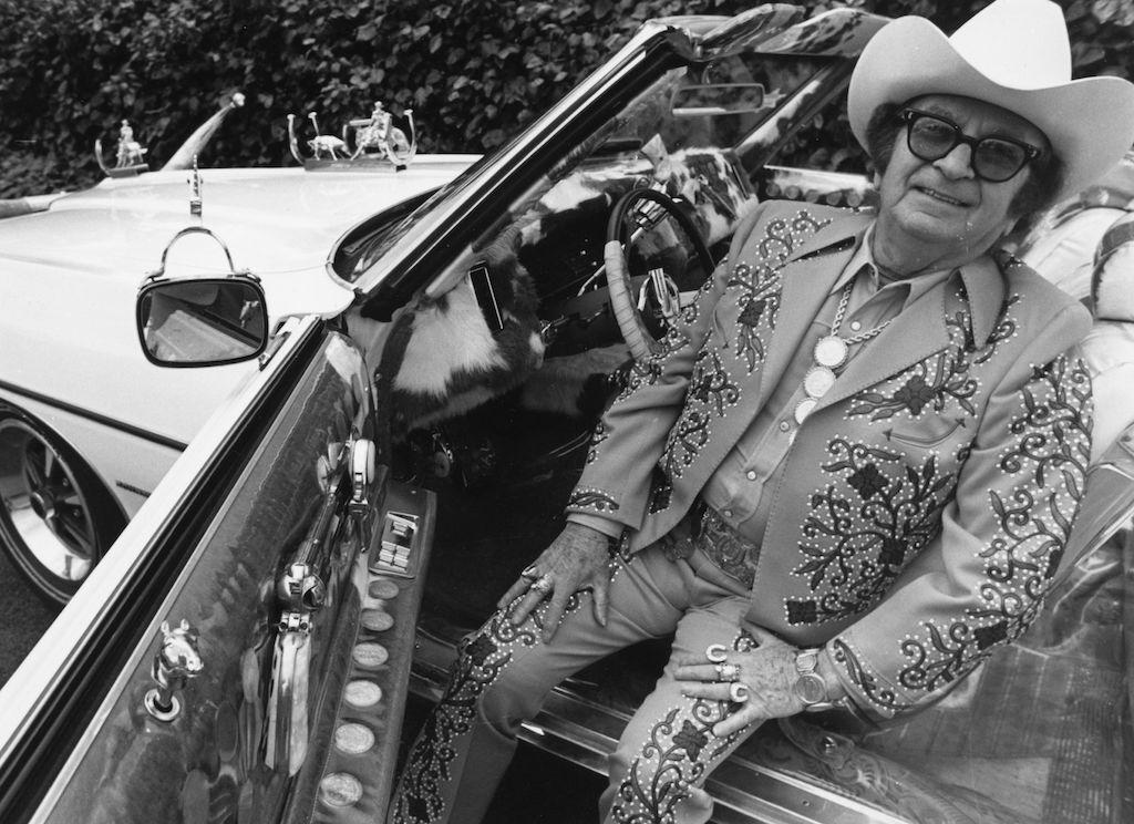 Nudie Cohn in his 1971 Pontiac Bonneville