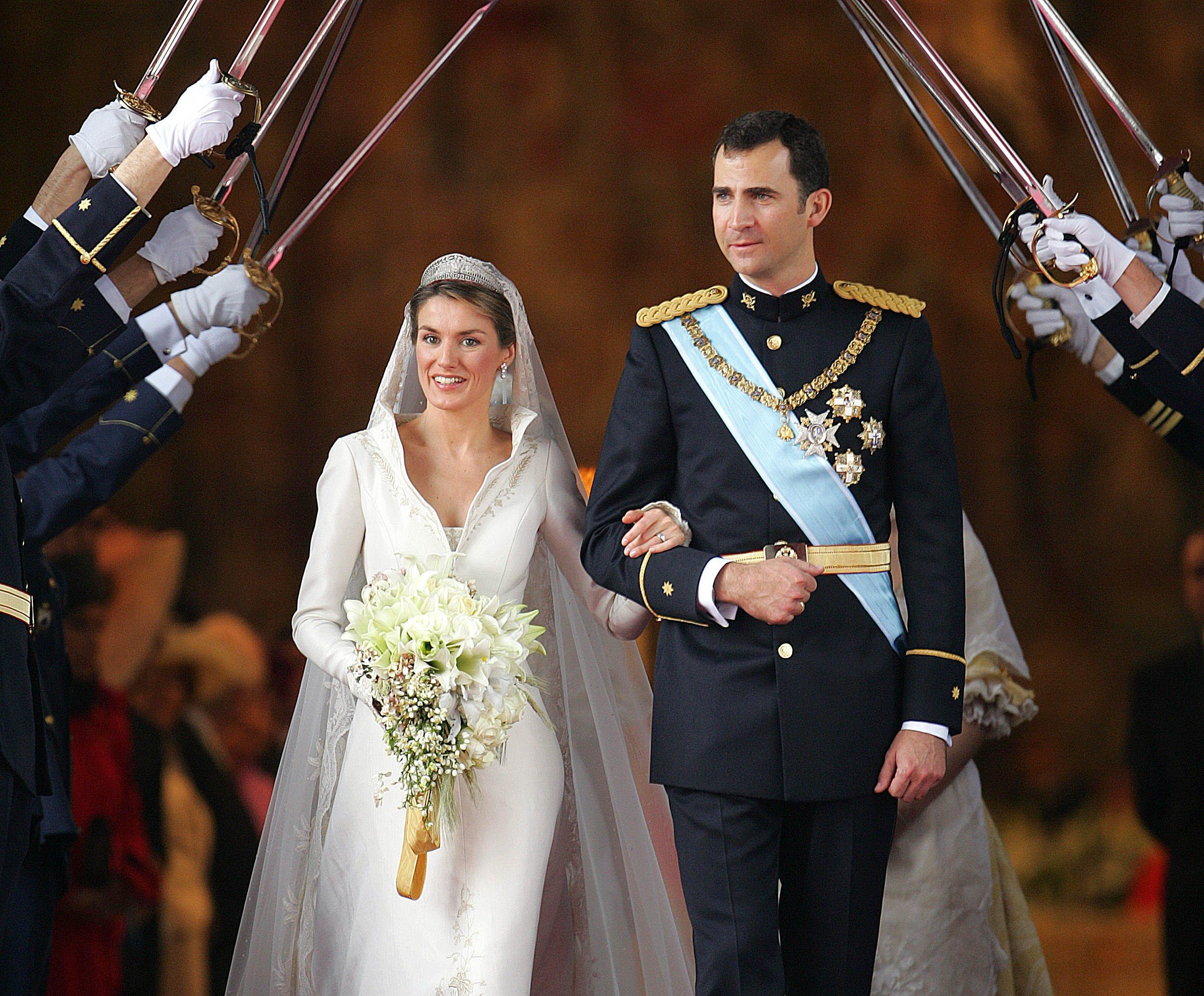 Princess of Asturias Letizia Ortiz and Spanish Crown Felipe of Bourbon
