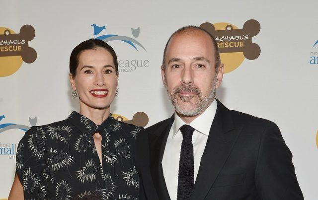Annette Roque and Matt Lauer in 2013