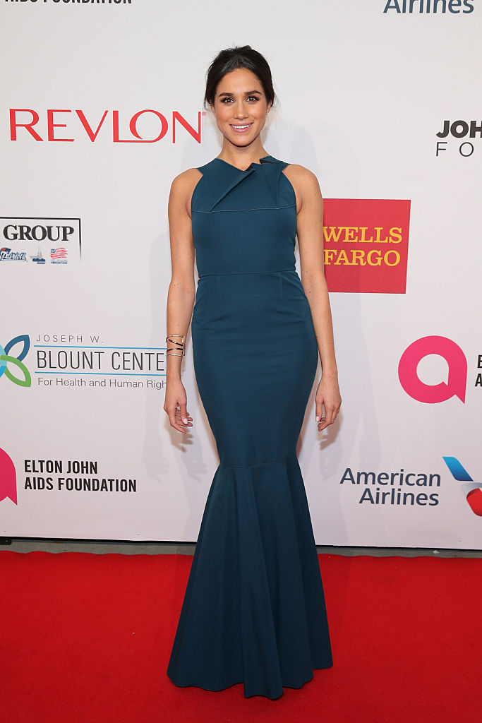 Meghan Markle attends the Elton John AIDS Foundation's 13th Annual An Enduring Vision Benefit.