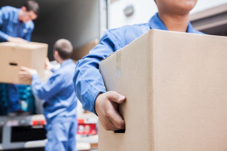 movers unloading van