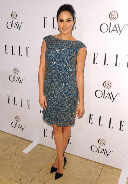 Actress Meghan Markle attends ELLE's Annual Women in Television Celebration.