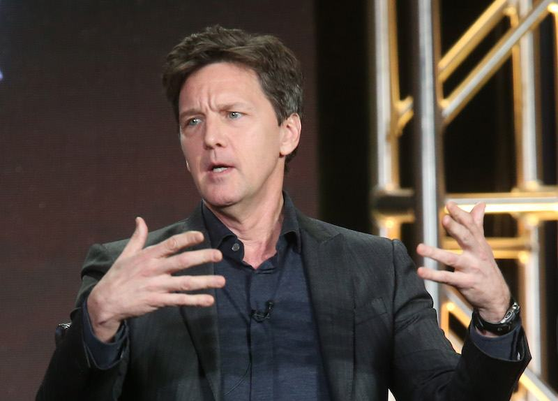 Actor Andrew McCarthy speaks onstage