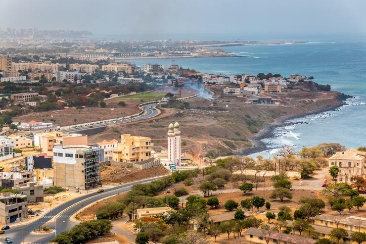 Aerial view of the city of Dakar, Senegal