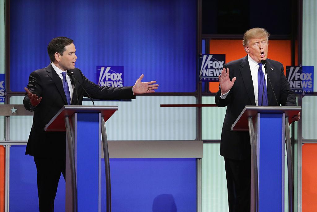 Marco Rubio and Donald Trump