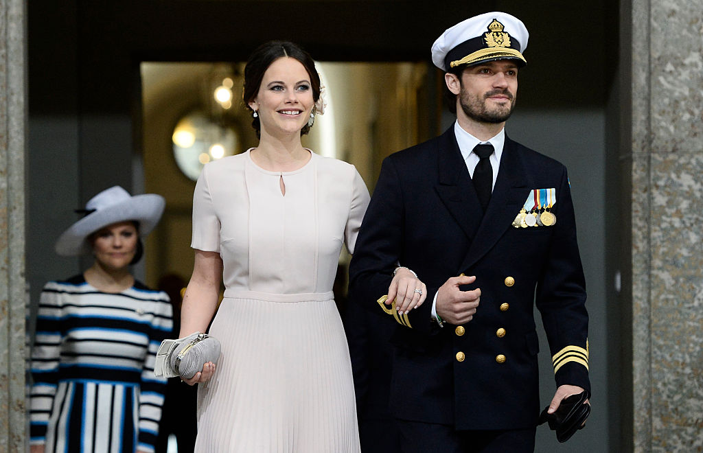 Sweden's Princess Sofia and Prince Carl Philip