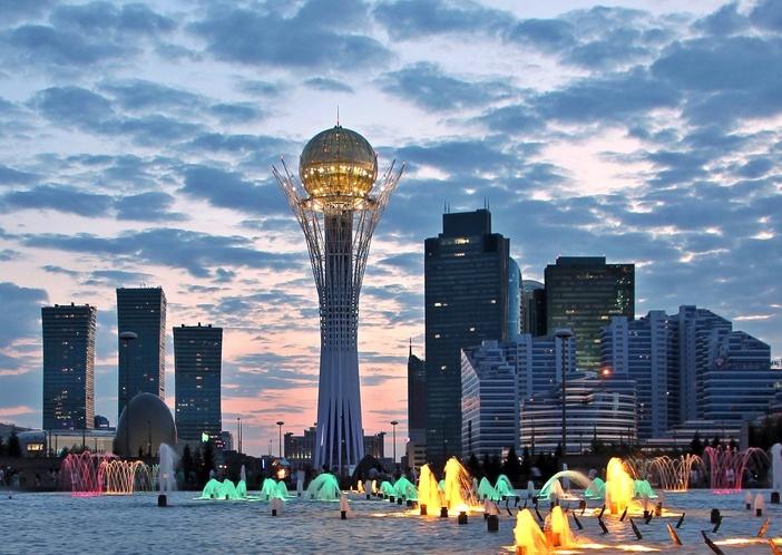 New centre of Astana capital city of Kazakhstan