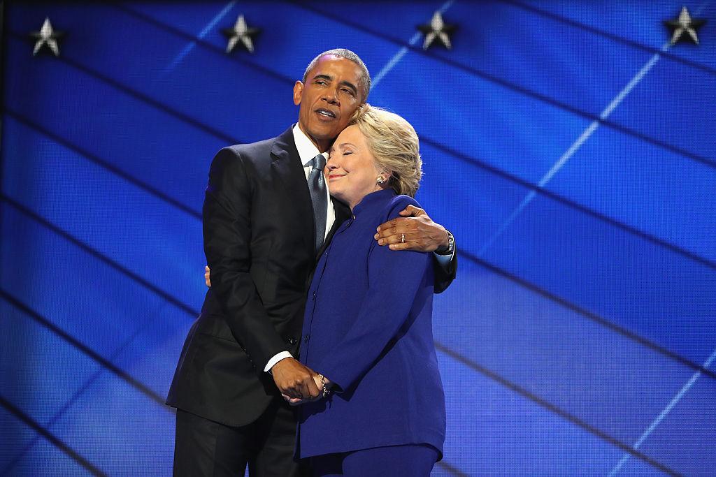 barack obama and hillary clinton embrace