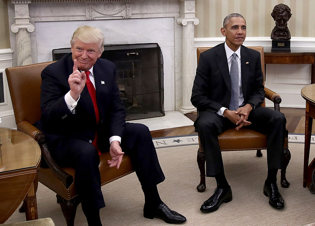 donald trump and barack obama meet in the oval office