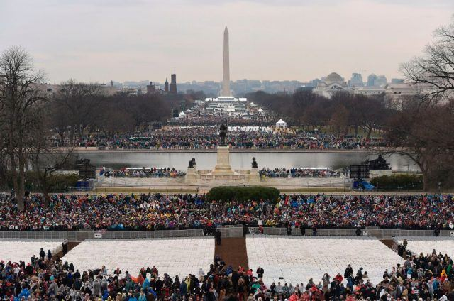 Small crowds gather for Trump's inauguration