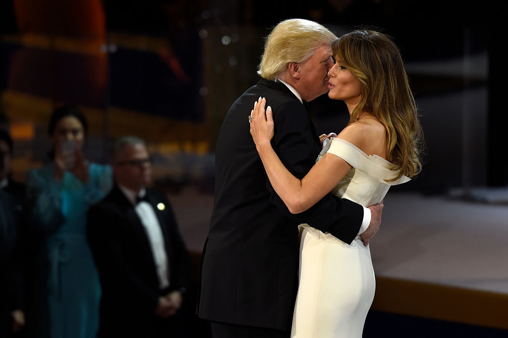 Donald Trump and Melania Trump dancing