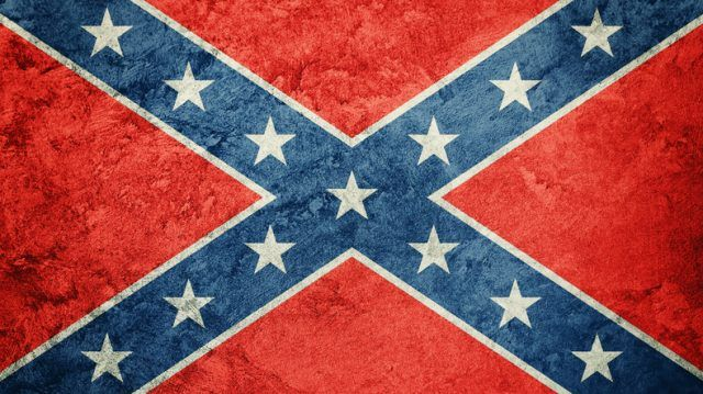 Grunge Confederate flag. Confederation flag with grunge texture.