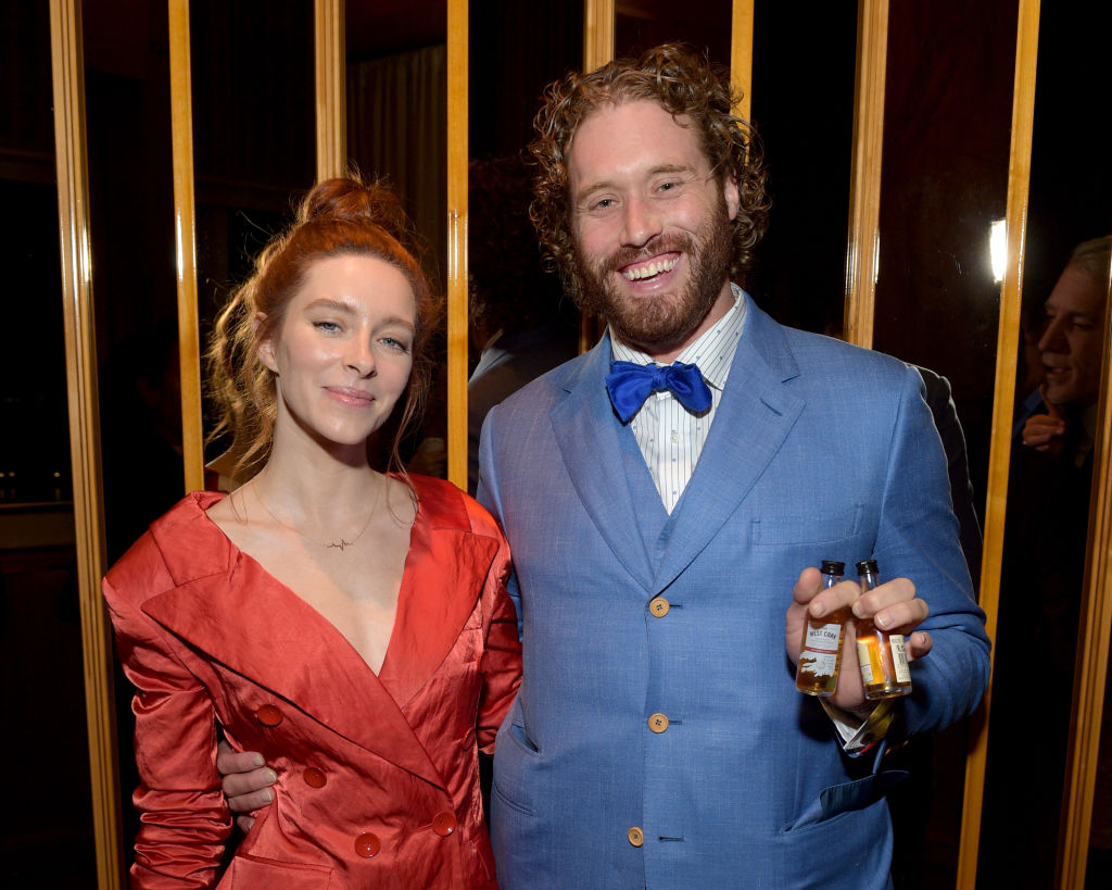 Kate Gorney and T.J. Miller attend the 'Okja' New York Premiere
