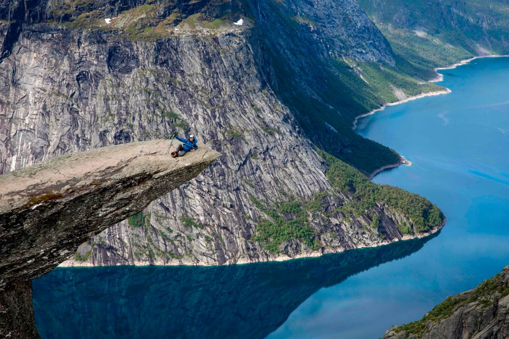 mountains and water in norway