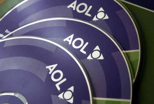 a collection of AOL trial CDs