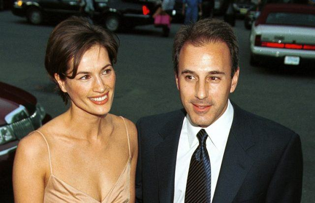 Annette Roque and Matt Lauer at a formal event.