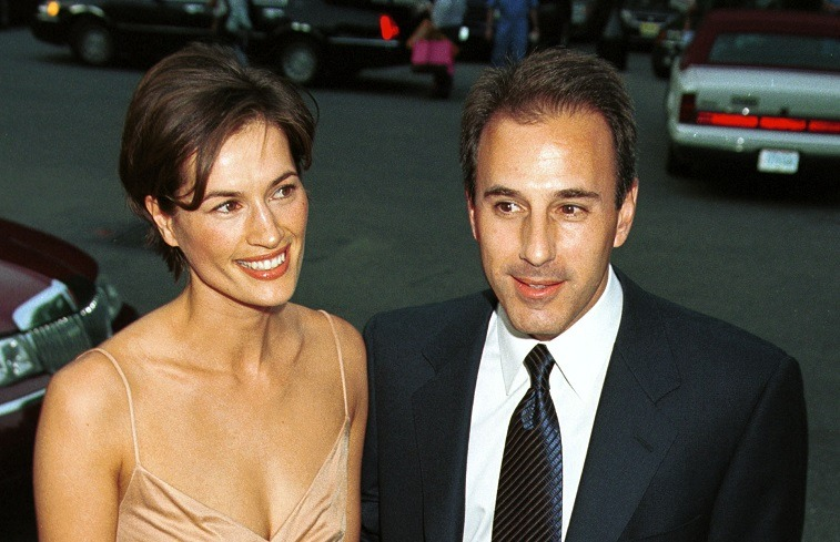 Annette Roque and Matt Lauer in 2000
