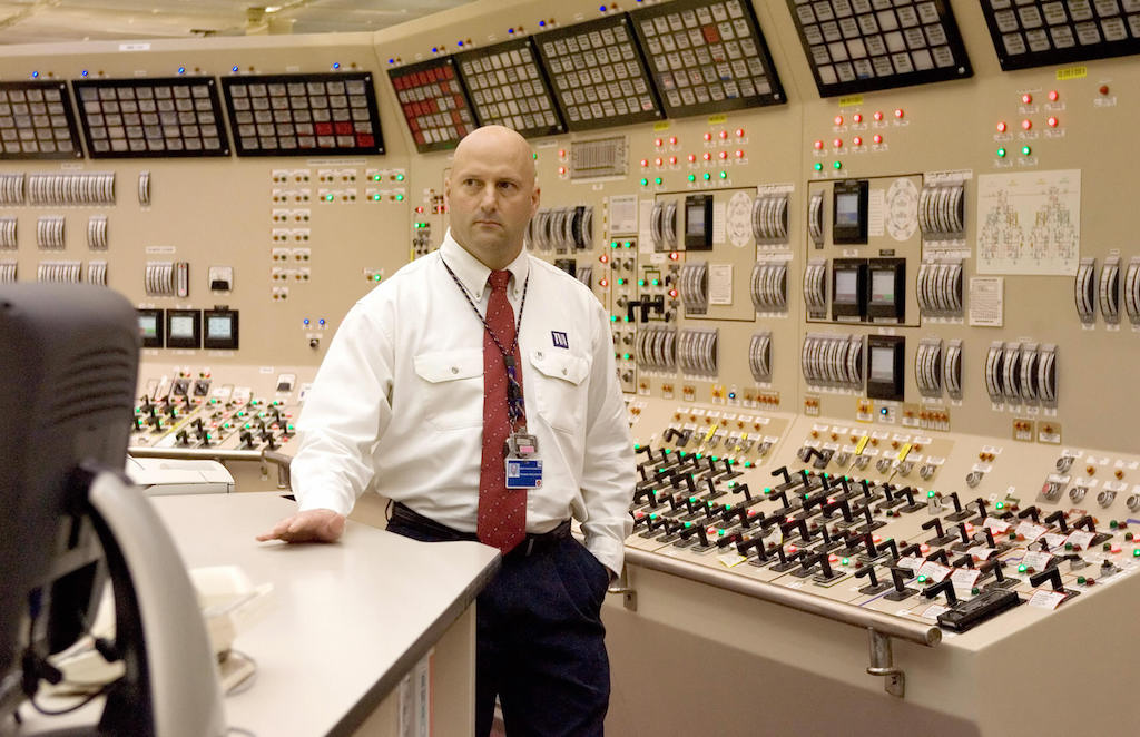 Browns Ferry Nuclear Plant control room.