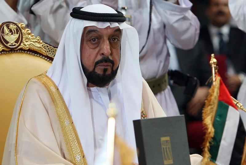 Emirati President Sheikh Khalifa bin Zayed al-Nahayan